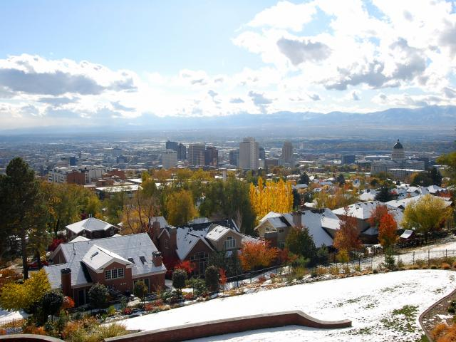 Views of downtown Salt Lake City