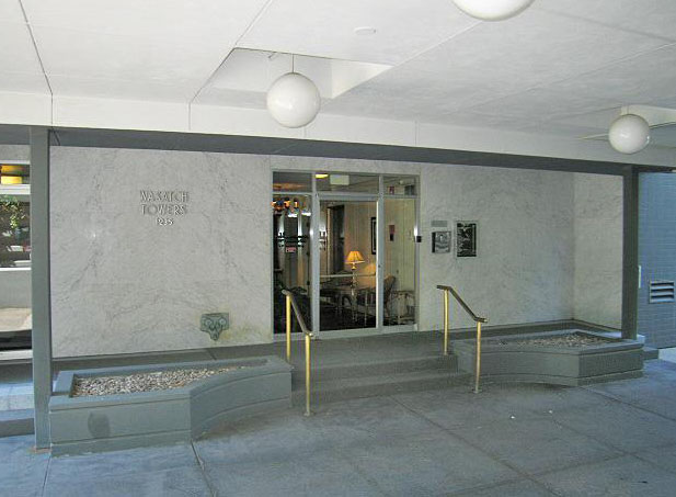 Wasatch Towers Entryway